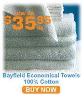 100% Cotton Economical Towels; Bayfield