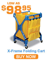 X-Frame Folding Cart w/ Bag
