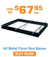 All Metal Panel Bed Bases