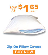 Zip-on Pillow Covers