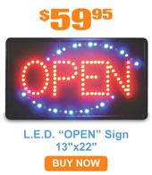L.E.D. Open Sign, 13