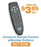 Value Line Universal Remote w/# Buttons