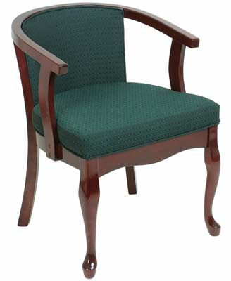 Queen Anne Upholstered Tub Chair