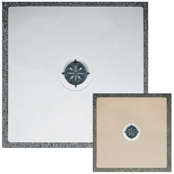 24x24 shower mat with center hole