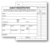 "4-3/4""x4"" Registration Card; 2-sided; 500/pk."