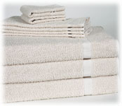 Martex Institutional Towels; 86% Cotton/14% Poly; Beige