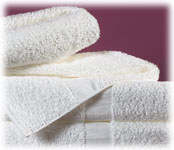 Dundee Martex Institutional Towels; 86% Cotton/14% Poly; White