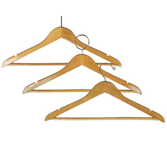 """17"""" Wide Solid Hardwood Notched Hangers; 5/8"""" Thick"""