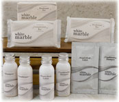 Dial White Marble Amenities