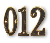 """2"""" Solid Heavyweight Brass Door Numbers"""