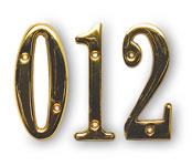 """3"""" Solid Heavyweight Brass Door Numbers"""