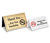 Non-Smoking Tent Signage