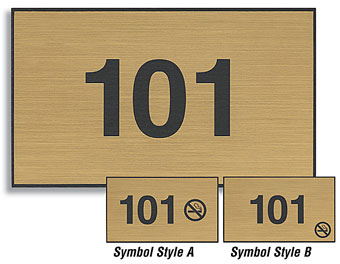 3x5 Custom Engraved Plastic Door Number Signs