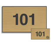 Engraved Plastic Door Number Signs; 3
