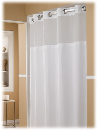 The Major Hookless Hotel Shower Curtains 12 Case