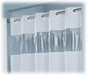 8 Ga Vinyl Vision 71x74 Hookless Shower Curtain