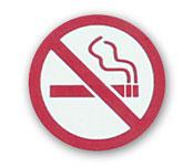 "1.25"" Dia. ""No Smoking"" Symbol Badge"
