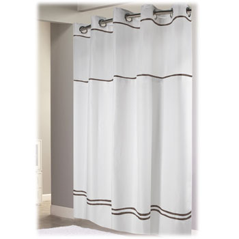 escape hookless hotel shower curtains 12 case