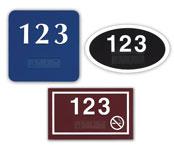 ADA Braille Door Number Plates