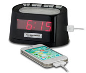 USB Port Clock Radio: Black