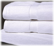 Denali 100% Cotton Luxury White Guestroom Towels