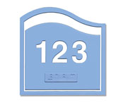 Custom ADA Braille Ocean Series Door Number Plates